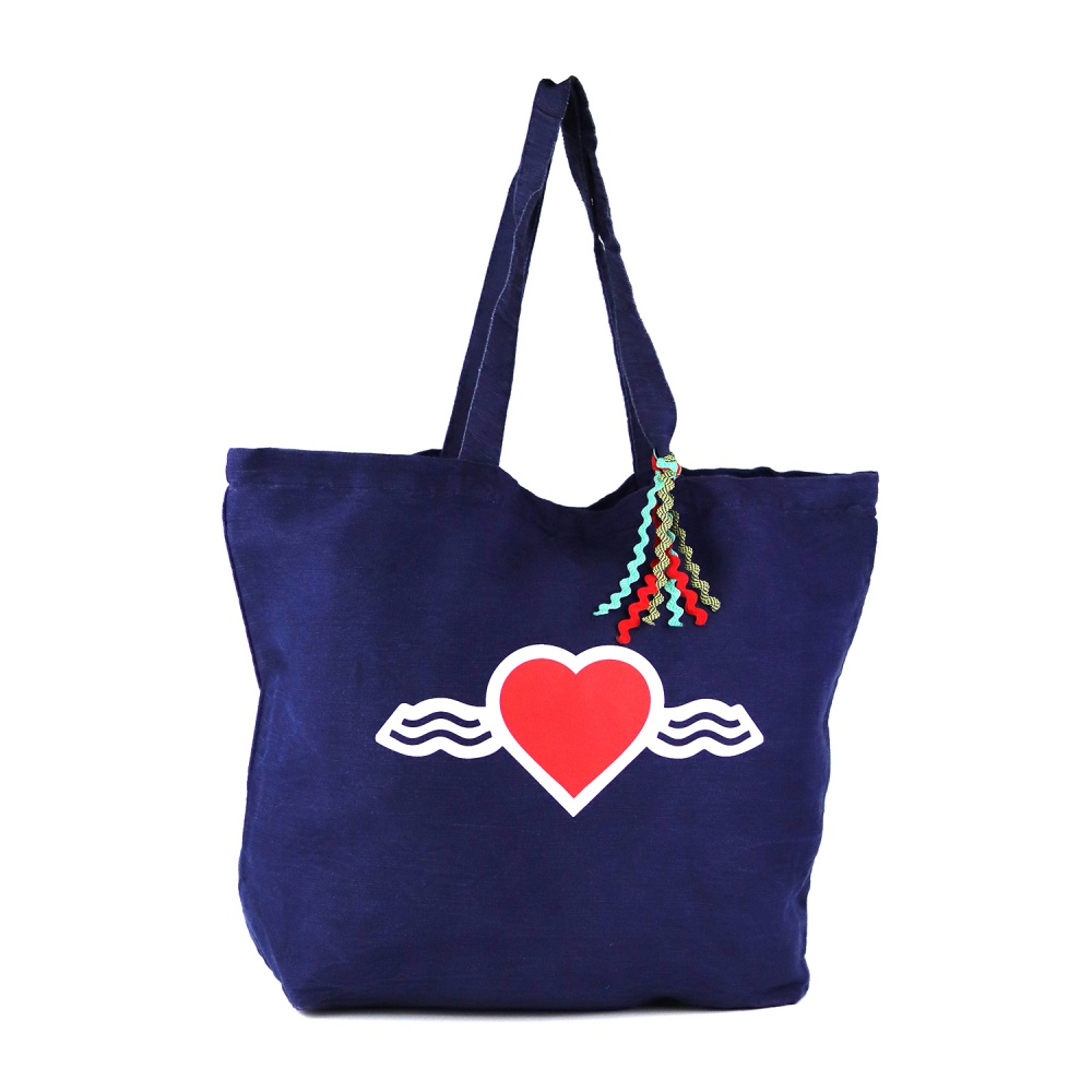 Grand Sac Cabas Bleu • La Vague d'Amour