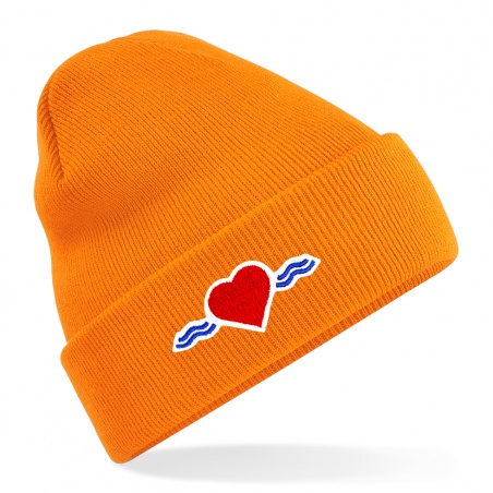 Bonnet orange à revers • Vague d'Amour • La Vague d'Amour