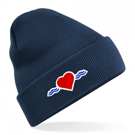 Bonnet bleu navy à revers • Vague d'Amour • La Vague d'Amour